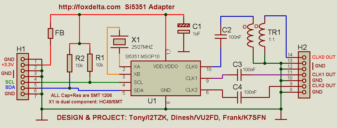 Foxdelta si5351 10KHZ to 500MHZ signal generator module for